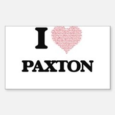 I Love Paxton (Heart Made from Love words) Decal