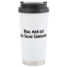 Cute Real men eat jerk chicken Travel Mug