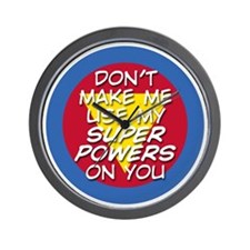 Super Powers 01 Wall Clock