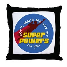 Super Powers 02 Throw Pillow