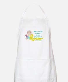 Grandma Is Born BBQ Apron