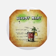 Funny Bloody mary Round Ornament