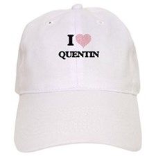 I Love Quentin (Heart Made from Love words) Baseball Cap