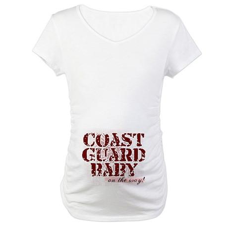 Coastie Baby On The Way Maternity T-Shirt