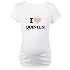 I Love Quinten (Heart Made from Shirt