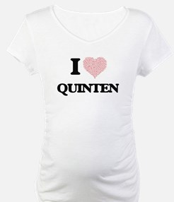 I Love Quinten (Heart Made from Shirt