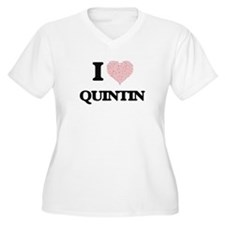 I Love Quintin (Heart Made from Plus Size T-Shirt