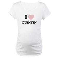 I Love Quintin (Heart Made from Shirt