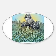 Funny Trippy Sticker (Oval)