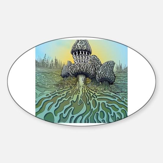 Cute Trippy Sticker (Oval)