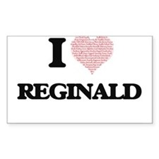 I Love Reginald (Heart Made from Love word Decal