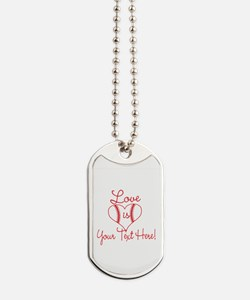 Love is Baseball Your Text Dog Tags
