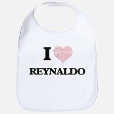 I Love Reynaldo (Heart Made from Love words) Bib