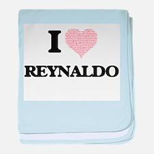 I Love Reynaldo (Heart Made from Love baby blanket