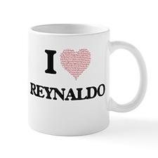 I Love Reynaldo (Heart Made from Love words) Mugs