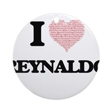 I Love Reynaldo (Heart Made from Lo Round Ornament
