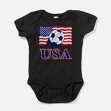 Cute Usa football Baby Bodysuit