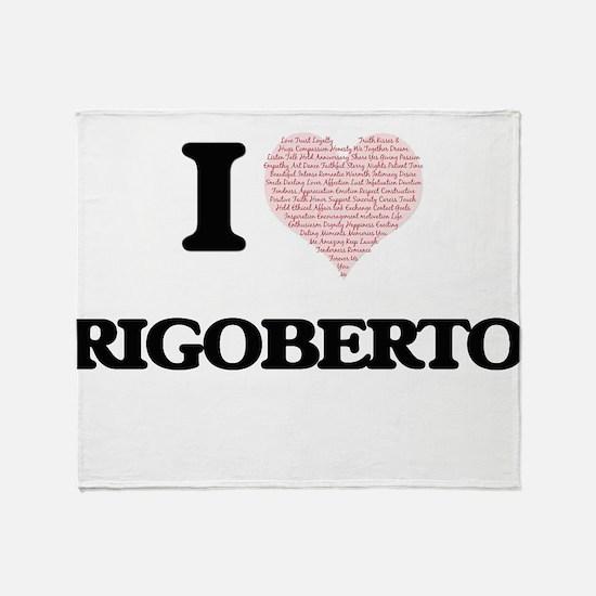 I Love Rigoberto (Heart Made from Lo Throw Blanket