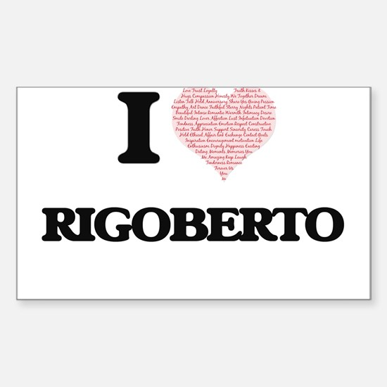 I Love Rigoberto (Heart Made from Love wor Decal