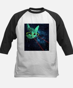 Laser Eyes Space Cat Baseball Jersey