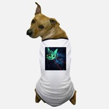 Laser Eyes Space Cat Dog T-Shirt