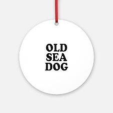 OLD SEA DOG - Round Ornament