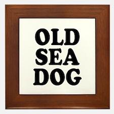 OLD SEA DOG - Framed Tile