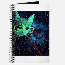 Laser Eyes Space Cat Journal