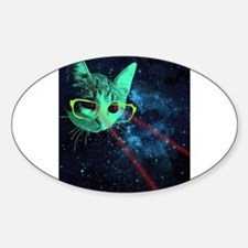Laser Eyes Space Cat Decal