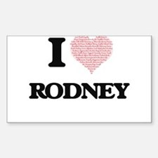 I Love Rodney (Heart Made from Love words) Decal