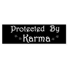 Karma Protection Bumper Bumper Sticker