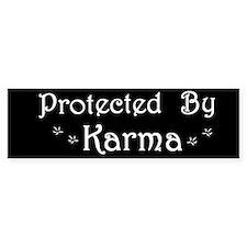 Karma Protection Bumper Bumper Sticker