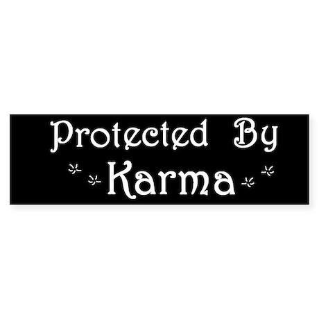 Karma Protection Bumper Sticker
