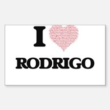 I Love Rodrigo (Heart Made from Love words Decal
