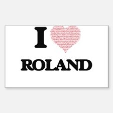 I Love Roland (Heart Made from Love words) Decal