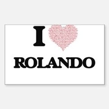 I Love Rolando (Heart Made from Love words Decal