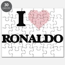 I Love Ronaldo (Heart Made from Love words) Puzzle
