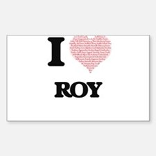 I Love Roy (Heart Made from Love words) Decal