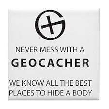 Cute Geocache Tile Coaster