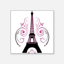 "Funny Paris france Square Sticker 3"" x 3"""