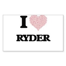 I Love Ryder (Heart Made from Love words) Decal