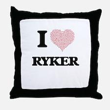 I Love Ryker (Heart Made from Love wo Throw Pillow