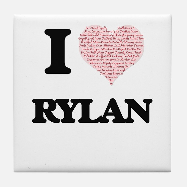 I Love Rylan (Heart Made from Love wo Tile Coaster