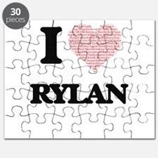 I Love Rylan (Heart Made from Love words) Puzzle