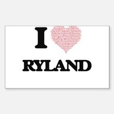 I Love Ryland (Heart Made from Love words) Decal