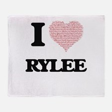 I Love Rylee (Heart Made from Love w Throw Blanket