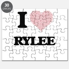 I Love Rylee (Heart Made from Love words) Puzzle
