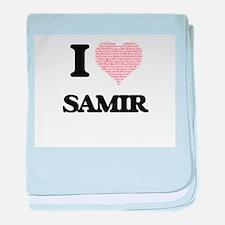I Love Samir (Heart Made from Love wo baby blanket