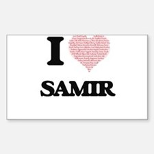I Love Samir (Heart Made from Love words) Decal