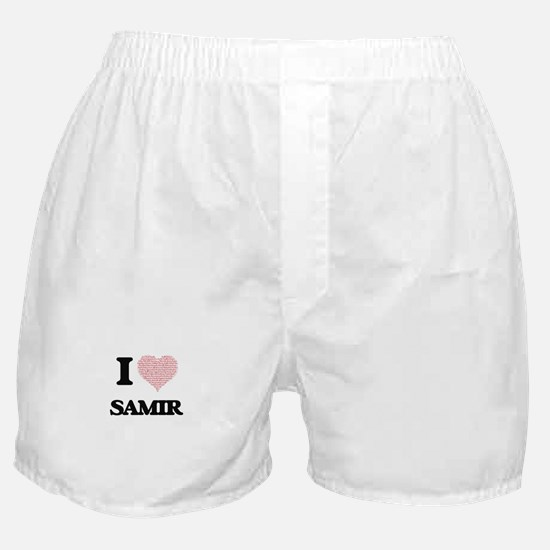 I Love Samir (Heart Made from Love wo Boxer Shorts